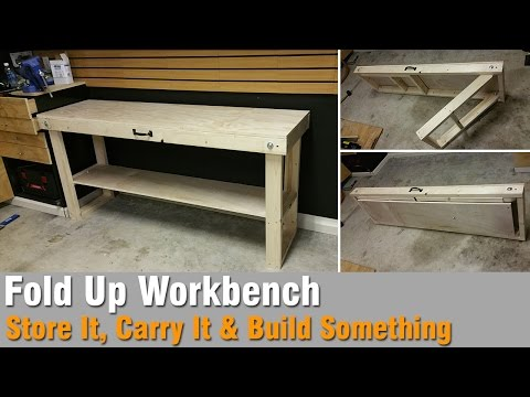 How To Build A Workbench Out Of 2×4 and Plywood – That Folds Up
