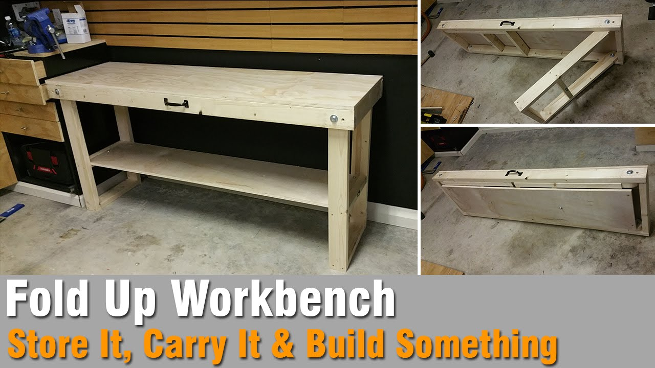 How To Build A Workbench Out Of 2x4 And Plywood That Folds Up You