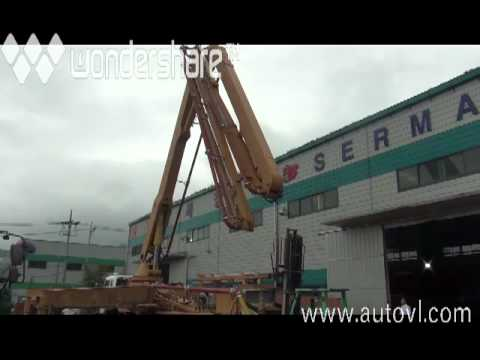 01 Тестовый запуск автобетононасоса Kyungwon 5RZ52X