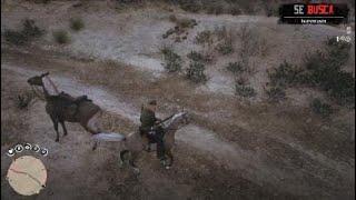 Red Dead Redemption 2 caballo en la pisciana del oeste! :v