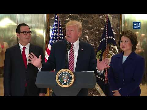 President Trump Gives a Statement on the Infrastructure Disc