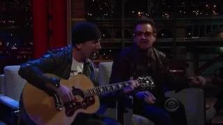 Bono And The Edge Letterman 2011 07 18
