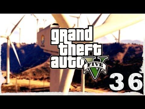 Смотреть прохождение игры Grand Theft Auto V. Серия 36 - Полет на парашюте и гонки по бездорожью.