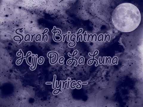 Sarah Brightman-Hijo de la luna lyrics