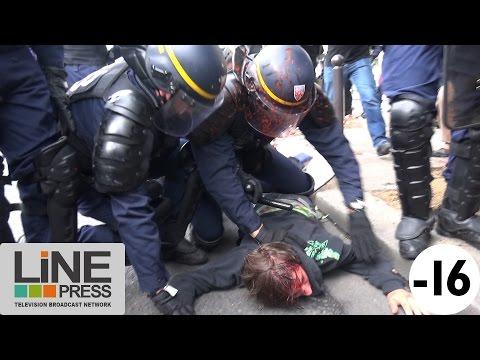 Manif Loi Travail. Nombreux affrontements violence blessés / Paris - France 15 septembre 2016