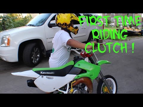 Teaching Year Old Kid How To Ride Clutch Dirtbike