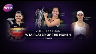 2016 WTA Player of the Month Finalists | October