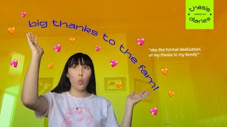 big thanks to the fam! - Thesis Diaries Ep.05