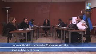 Concejo Municipal, miércoles 23 de octubre 2019