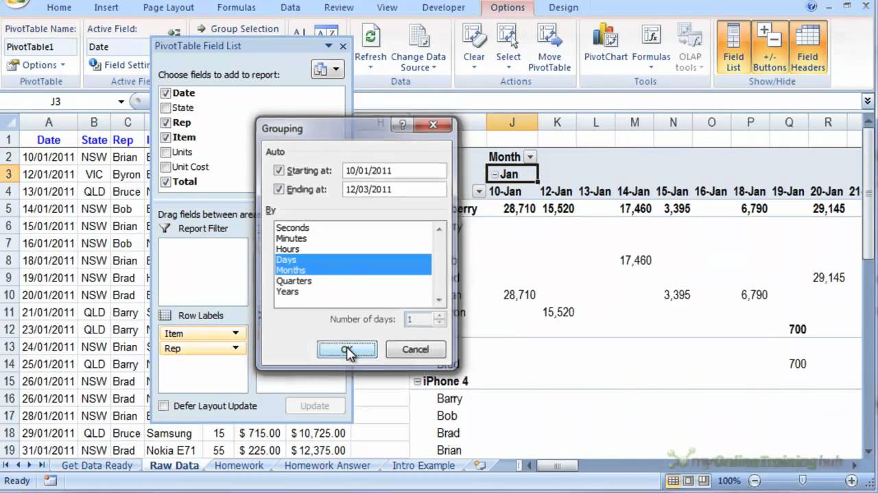 How to insert an excel pivot table also youtube rh