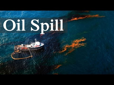 Crude Oil Spilling Into Ocean