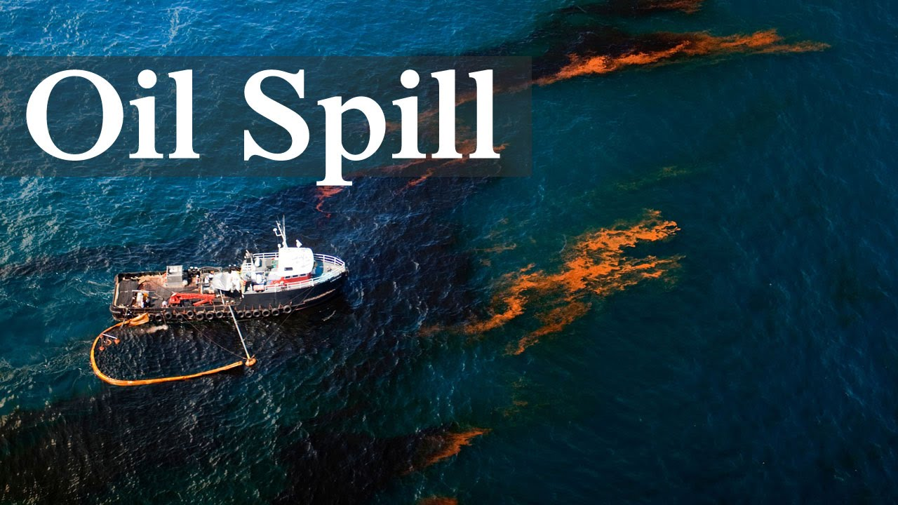 Crude Oil Spilling Into Ocean - YouTube