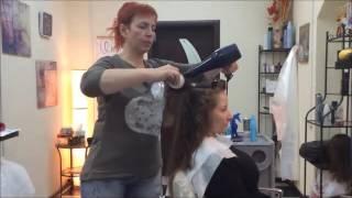 Укладка волос феном. Шаг 2: Шлифовка кудрявых волос 2