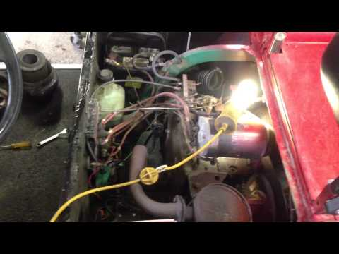 EzGo golf cart pt 1 - YouTube  Cyc Gas Ezgo Marathon Wiring Diagram on
