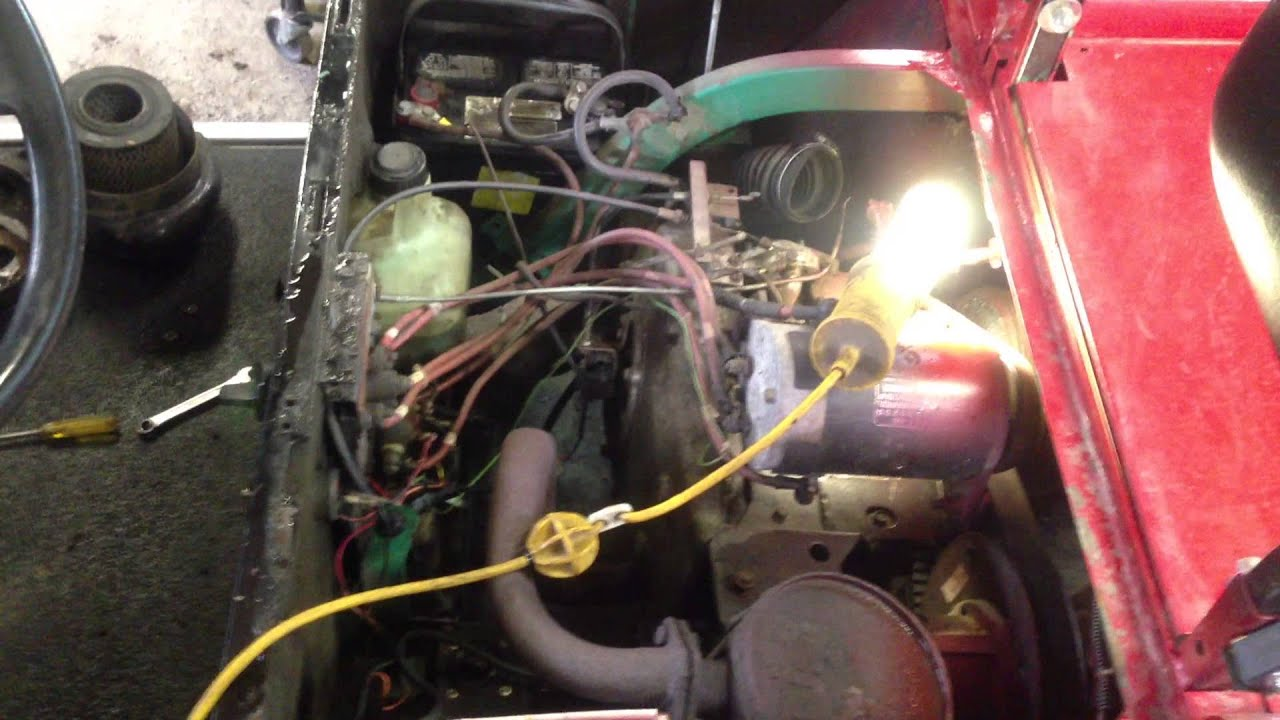 Golf Cart Wiring Diagram Gas Engine Great Installation Of 1998 Ezgo Pt 1 Youtube 1992