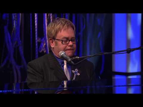 Sir Elton John tries out Leon Russell's style