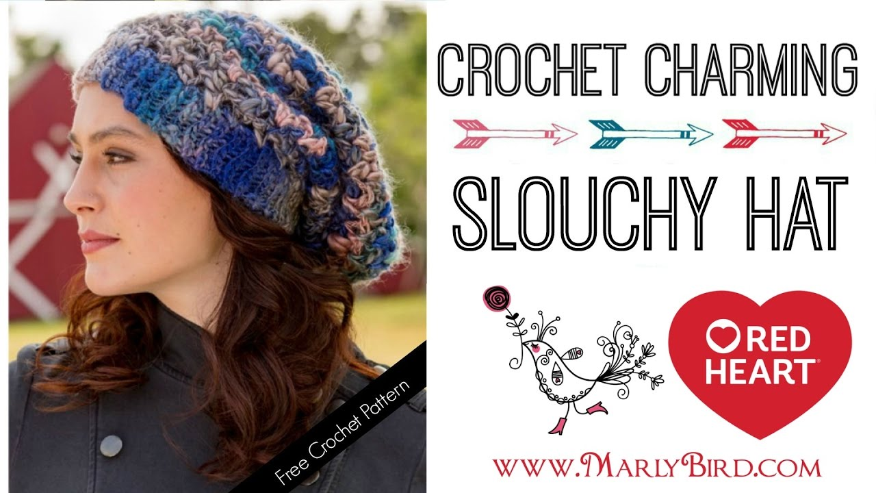 How to Crochet Charming Slouchy Hat - YouTube