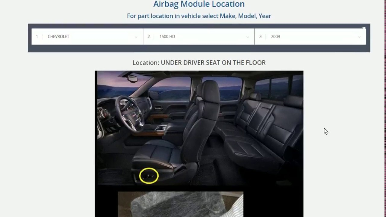 hight resolution of srs airbag module location where is airbag computer in my vehicle