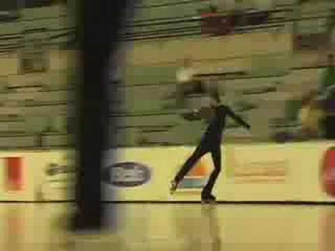 Triple Axel jumps on roller