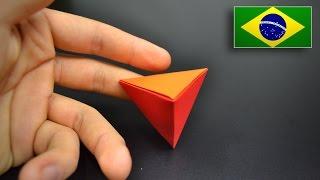 Origami: Tetraedro - Instruções em Português BR