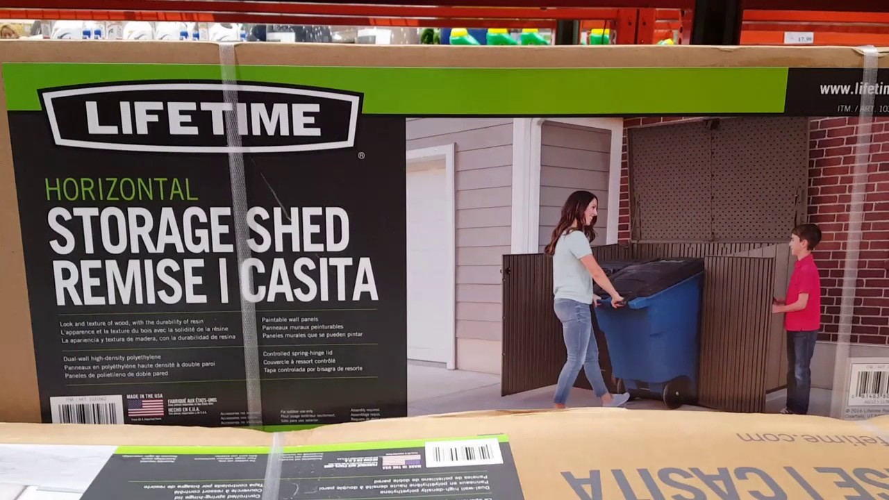 Costco Lifetime Horizontal Storage Shed ...or Trash Can Hider For $299.