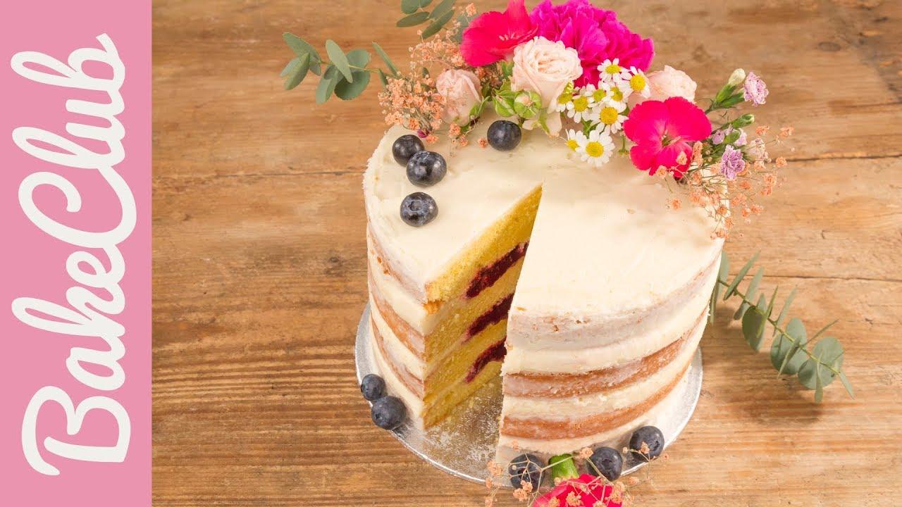 Naked Cake Hochzeitstorte Bakeclub Youtube