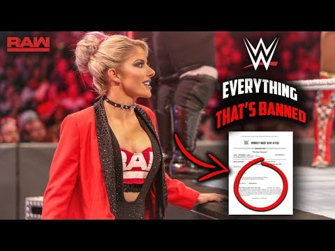 BREAKING: WWE Accidentally Leaks Updated List Of Everything That's BANNED FROM WWE TV! - WWE RAW