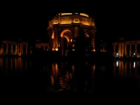 Palace of the fine arts at night
