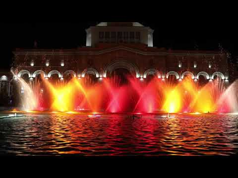 Water Fountain Show, Yerevan Armenia