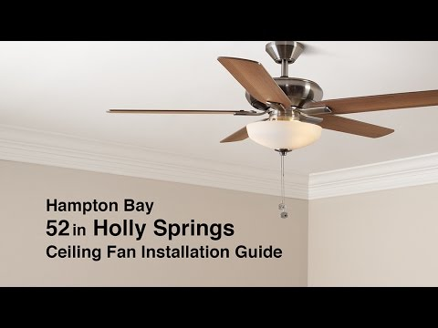How to Install the 52 in. Holly Springs Ceiling Fan from Hampton Bay Hampton Bay Fan Wiring Diagram Mln on