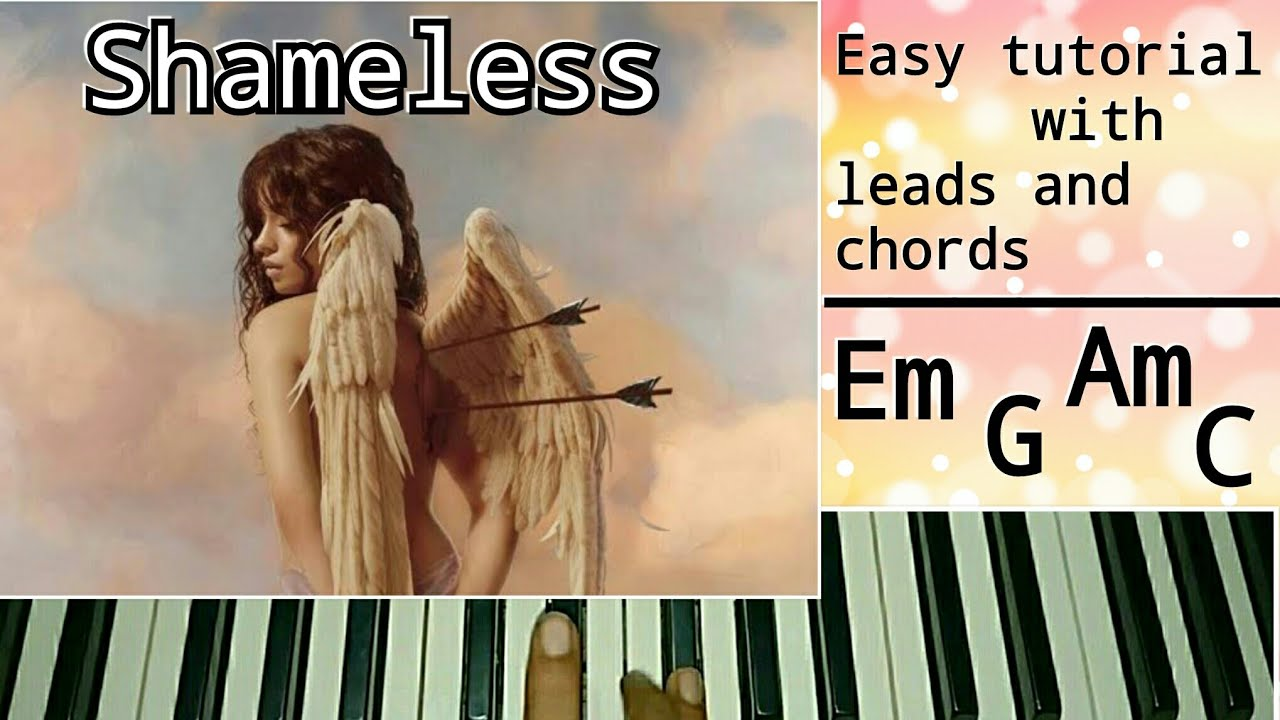 Camila Cabello | Shameless | Easy Piano Tutorial with leads and chords |  Step by Step