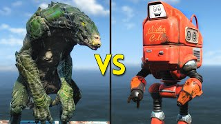 Fallout 4 - 50 GATORCLAWS vs 50 NUKATRONS - Battles 43