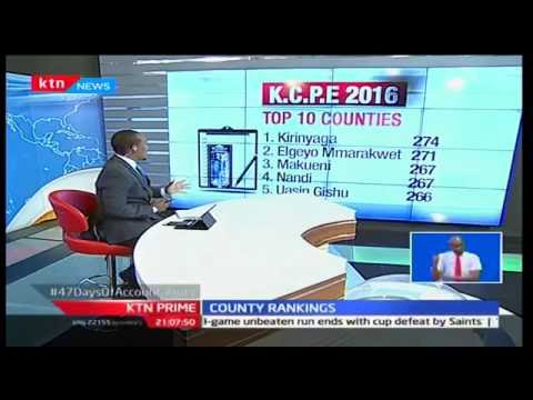 Top & bottom counties performance in kcpe (education)2016