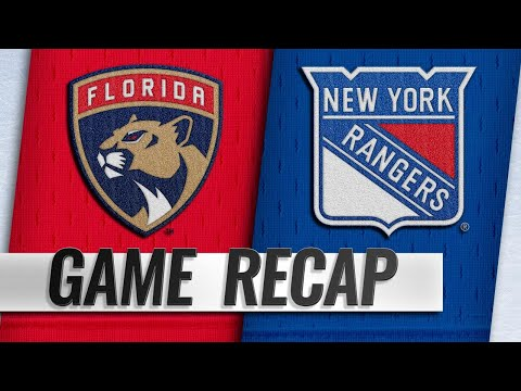 Zibanejad's four points spark Rangers past Panthers