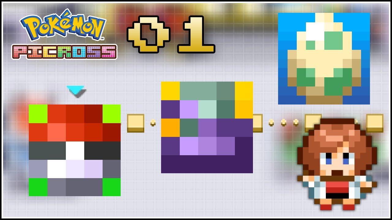 Pok mon picross 01 nuevo juego gratis de pok mon d for Mural 01 pokemon picross