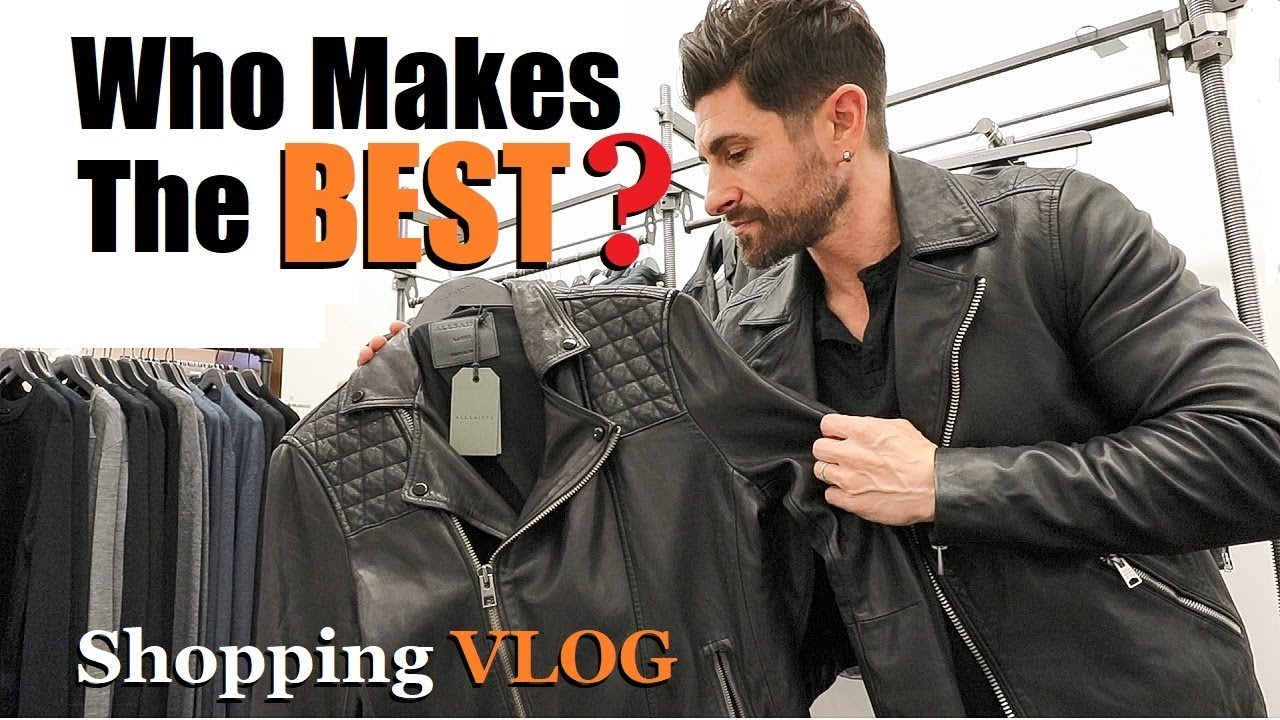 ae02c72a1 Who Makes The BEST Leather Jackets? (alpha m. Shopping VLOG)