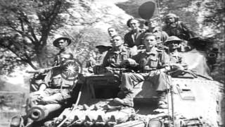 British and Indian combat troops capture Mandalay, Burma from Japanese as troops ...HD Stock Footage