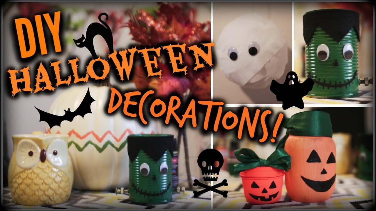 diy halloween decorations cheap easy youtube - Halloween Decorations Idea