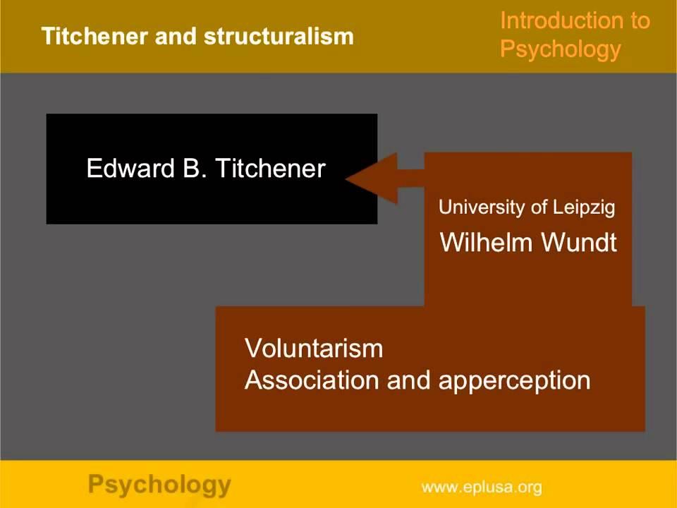 titchener structuralism