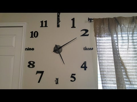 Homy Large Wall Clock Decorative 3d Diy Luxurious Silent And Modern Home Decorations Youtube