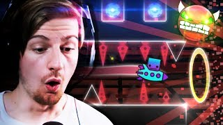 so this is a demon level huh heh heh oh no    geometry dash part 11