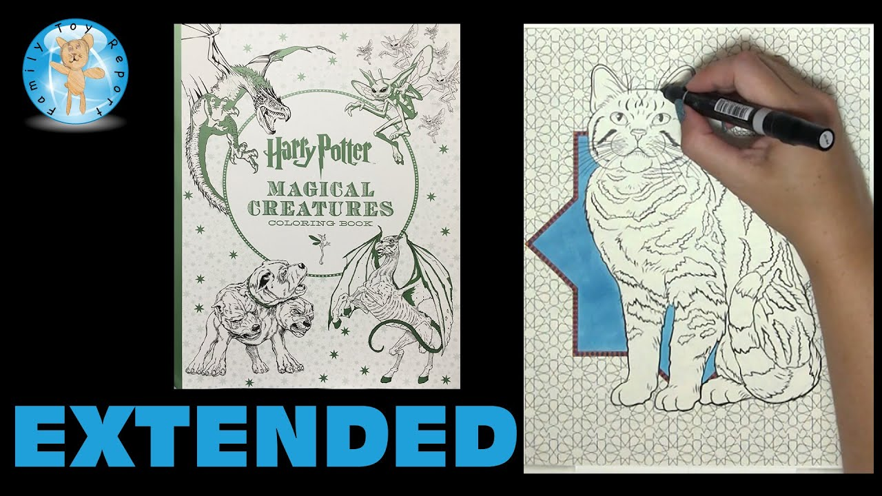 Harry Potter Magical Creatures Coloring Book Speed Color Extended