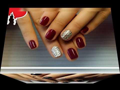 Красивый дизайн на короткие  ногти шеллак гель лак фото маникюр