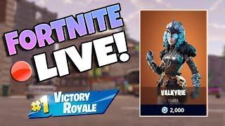 NEW VALKYRIE SKIN GAMEPLAY / Fortnite Battle Royale Live / 128+ Wins 5300+ Kills