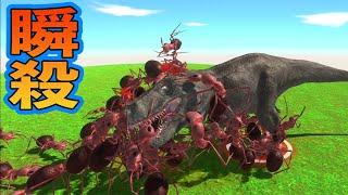 巨大アリ100匹いれば恐竜王者ティラノサウルスも瞬殺!? サメも虫も恐竜も人間…