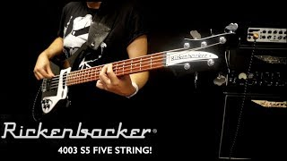 Rickenbacker 4003 S5 Five string bass demo