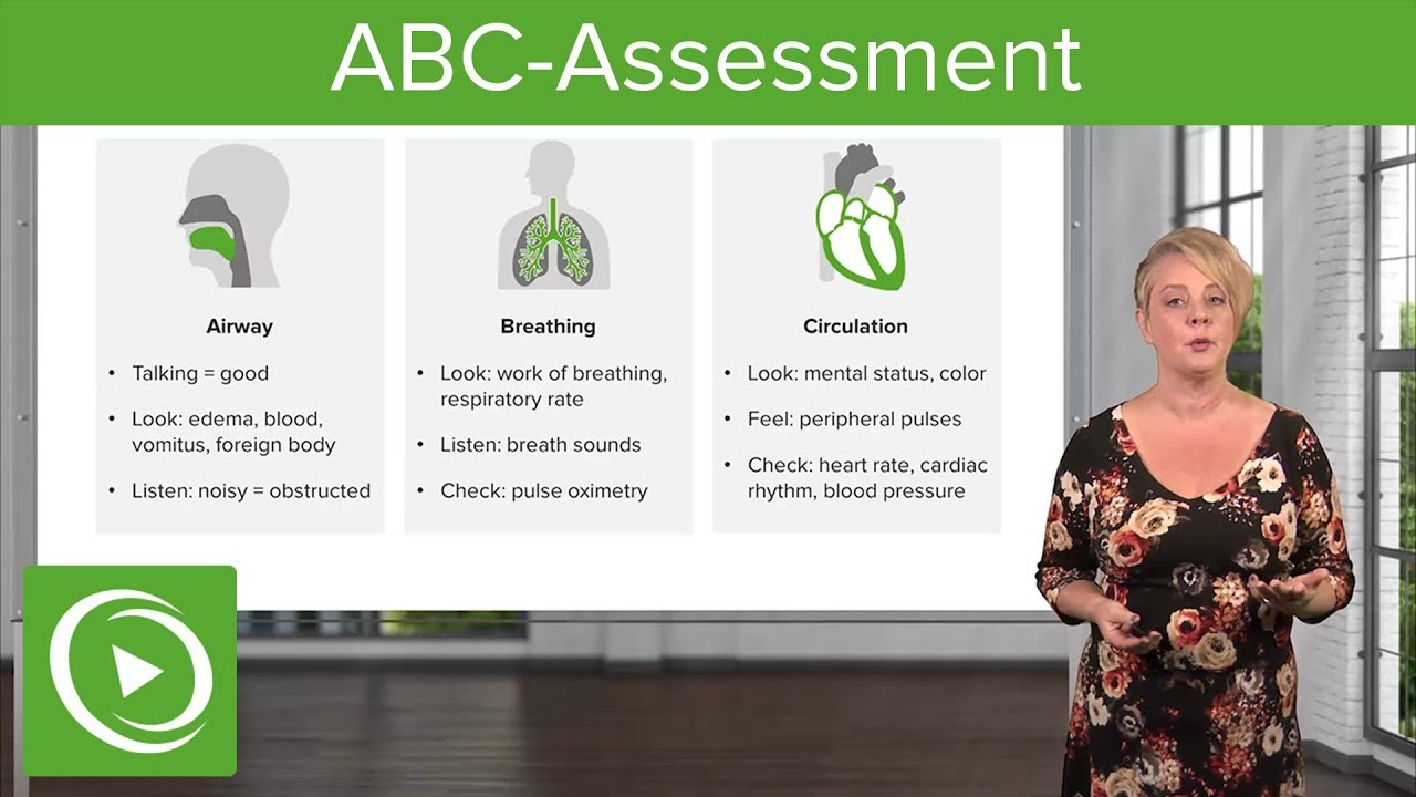 ABC Assessment: First Steps to Stabilize Sick Patients – Emergency Medicine | Lecturio