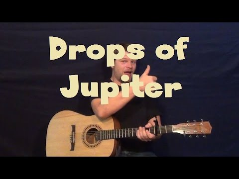 Drops Of Jupiter Train Easy Strum Guitar Lesson With Licks How To