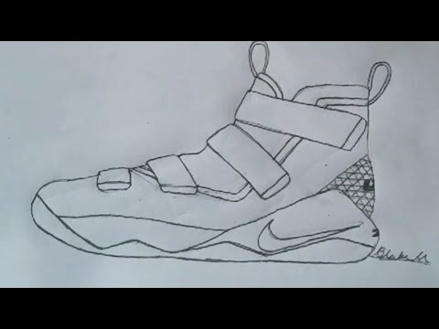 How To Draw The Nike Lebron Soldier 11 Hyperlapse
