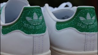 Adidas Stan Smith w/ Swarovski Crystals (Unboxing/Review/Comparison) On Foot!